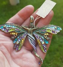 Kirks Folly Isabelle Fairy Butterfly Enhancer Necklace Rare magnetic pendant