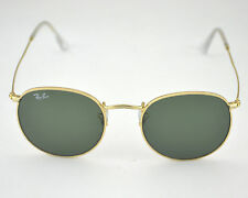 New Ray-Ban RB3447 Round Metal 001 Gold Frame/ Green Classic G-15 Lens 50mm