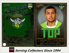 2011 NRL Strike Top Tryscorer TS2 B. Ferguson (Raiders) + Predictor Card