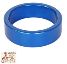 """ORIGIN8 ALLOY 10mm x 1-1/8""""  ANODIZED BLUE BICYCLE HEADSET SPACERS--BAG OF 10"""