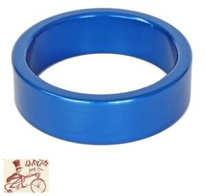 "ORIGIN8 ALLOY 10mm x 1-1/8""  ANODIZED BLUE BICYCLE HEADSET SPACERS--BAG OF 10"