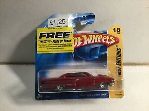 Vintage Hot Wheels Car 1964 Ford Galaxie 500XL 18/36 New Mint In Sealed Pack