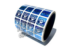 1000 3D Hologram Security Stickers BLUE 1 INCH SQUARE STICKERS - YOUR LOGO