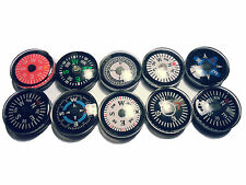 10 bunte Mini Kompass Compas Brujula  Bussola Boussole 2cm