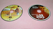 LOT OF 2 DVDs: ALFRED HITCHCOCK The 39 STEPS & THE DUST FACTORY EUC