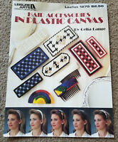 Leisure Arts HAIR CLIPS ACCESSORIES IN PLASTIC CANVAS Book 1275 Celia Lange OOP