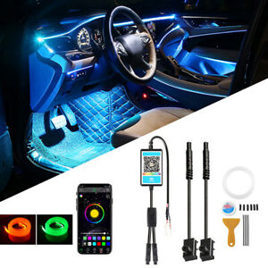 4M RGB LED Car Interior Lamp Ambient Light Strips App Control For Mercedes Benz