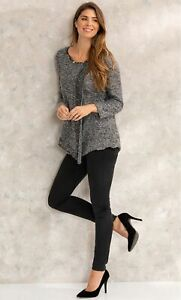 Mock Wrap Over Knitted Top  - Ladies Womens - Klass Collection