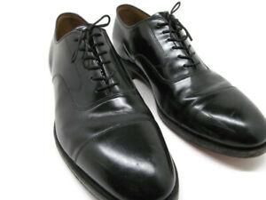 Johnston Murphy Optima Mens Black Leather Cap toe Oxfords Size US 11 D/B