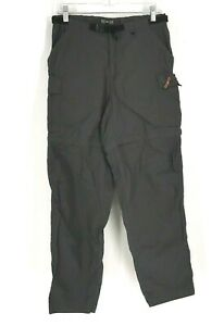 REI - WOMEN'S 10 - GRAY UPF 50+ BELTED CARGO CONVERTIBLE HIKING CAMPING PANTS