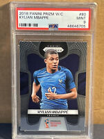 2018 Panini Prizm Kylian Mbappe #80 PSA 9 Mint France 🇫🇷 World Cup Rookie Card