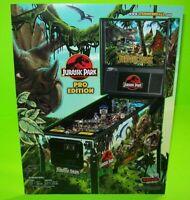 Jurassic Park Pinball FLYER Original Stern Game Ready To Frame Dinosaur Artwork