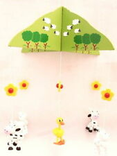 BN WOODEN COW MOBILE  - GREAT GIFT IDEA