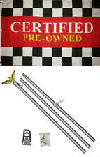 3x5 Advertising Certified Pre - Owned Flag Aluminum Pole Kit Set 3'x5'