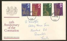 GREAT BRITAIN, 25th Anniversary of the Coronation,1st Day Cover, 31/05/1978