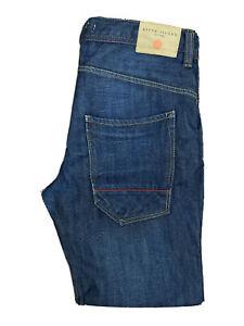 Original River Island Straight Leg Indigo Blue Denim Jeans W32 L30 ES 8088
