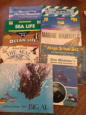 BOOKS REPRODUCIBLES fish ocean life sea mammals seals GUC