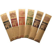 Set of 6 Fair Trade Incense Sticks Hand Rolled Woody Spicy Fragrances 20 P/Pack