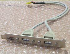 Dual 2 Port USB To Motherboard Expansion Extension Card Bracket