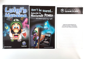 Luigi's Mansion Replacement Manual Instruction Booklet Only Nintendo Gamecube