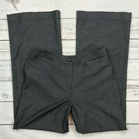 J.Jill Dress Pants Size 8 Womens Gray Woven Wide Leg Stretch Linen