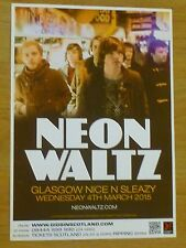 Neon Waltz - Glasgow march 2015 tour concert gig poster