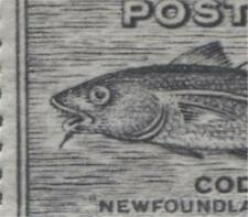 Newfoundland #233i 1c Black 1937 Long Coronation Perf. 14.25 Fish Hook  F-70 NH