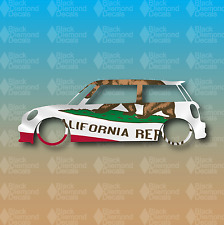 "Mini Cooper California State Flag Cooper S R53 6"" JCW Custom Vinyl Decal Sticker"