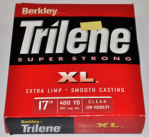 Trilene Super Strong XL Fishing Line Clear 400 yds.