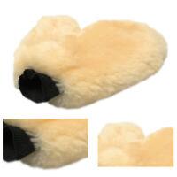 Soft Lambswool Sheepskin Wash Mitt Plush Non Scratch Car Washing Glove 100% Real