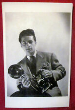1943 Photographer Speed Graphic Camera Real Photo Postcard