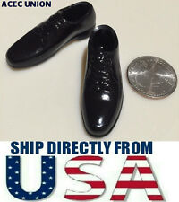 """1/6 Scale Apron Toe Oxford Shoes BLACK For Hot Toys 12"""" Male Figure USA SELLER"""