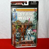Star Wars Chewbacca & Han Solo Stormtrooper #3 Comic Pack #04 Hasbro Figures