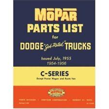 Illustrated MoPar Parts Manual for 1954-1956 Dodge C-Series Trucks