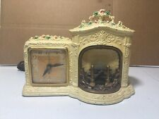 Vintage United Fireplace Motion Electric Mantle Clock