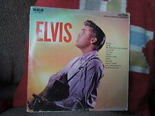 Elvis Presley - Elvis RARE USA Vinyl LP - Nipper Logo Blacked Out