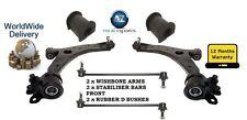 Para Mazda 5 1.8 2.0 05-10 2 Wishbone Armas + 2 Frontales Estabilizador Bares + 2 D Bush