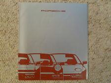 1990 Porsche Full Line 911 C2/C4 944 928 Showroom Sales Folder / Brochure G/F/I