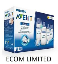 Philips Avent Newborn Bottle Kit PBA Free SCD371 Starter Set Classic +