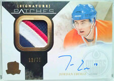 /75 JORDAN EBERLE THE CUP SIGNATURE ROOKIE PATCHES PATCH AUTO 2010 10 11 jsy