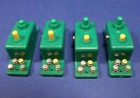 Lot of 4 Trix Express Push Button Electrical Control Modules / HO OO N