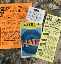 Hair Broadway Opening Night Playbill & Flyers, Caissie Levy Gavin Creel?