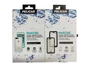 Pelican Marine Waterproof Case For iPhone 7 Plus iPhone 8 Plus Clear Black Teal