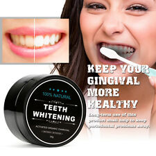 100% Natural Teeth Whitening Powder Activated Organic Charcoal Toothpaste Whiten