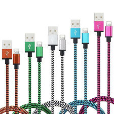 CABLE POUR IPHONE 7 6 5 PLUS IPAD IPOD CHARGEUR USB METAL RENFORCÉ LOT 1M 2M 3M