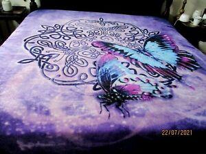 Regal Comfort Brigid Ashwood 2019 Faux Fur Luxury Blanket Butterfly~ Large