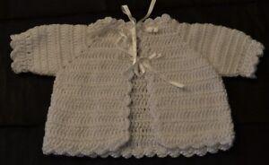 Hand Crochet Baby Matinee Jacket