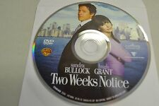 Two Weeks Notice (DVD, 2003, Full Frame)Disc Only Free Shipping
