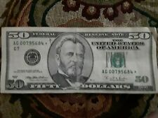 Rare 1996 $50 US Fifty Dollar Bill STAR NOTE U.S. Currency