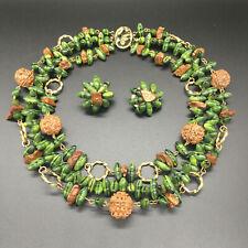 Vintage Hattie Carnegie Necklace and Earring Set